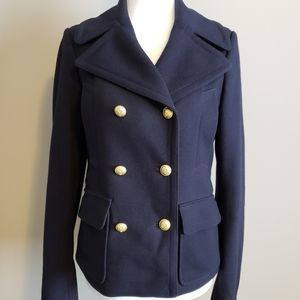 GAP Wool Peacoat NWOT, Navy w/ gold buttons,  XS,